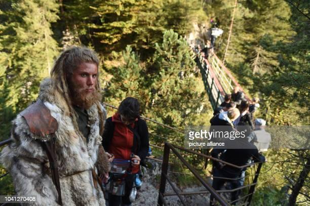 The stunt double Martin Schneider pictured on the set of ICEMAN - Die Legende von Oetzi in Eschenlohe, Germany, 27 September 2016. PHOTO: FELIX...