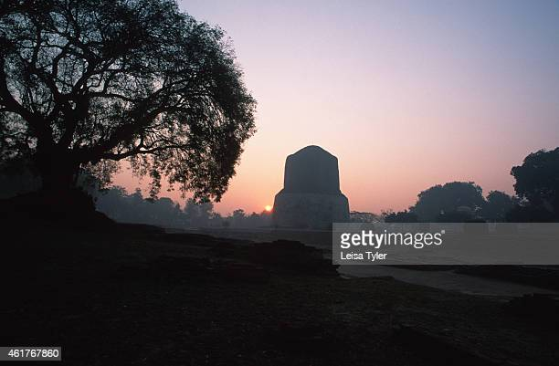 The stupa at Sarnath near Varanarsi where Siddhartha Guatama's bones and skin are believed to be buried is also where the religious leader gave the...