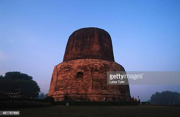 The stupa at Sarnath near Varanarsi where Siddhartha Guatama's bones and skin are believed to be buried The stupa lies in the Deer Park where Buddha...