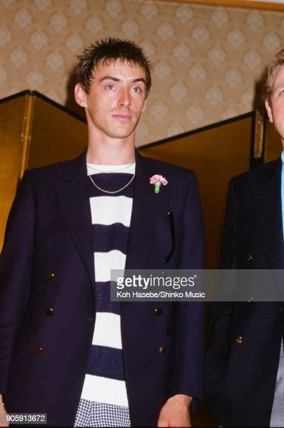 The Style Council at press conference for ROCK IN JAPAN'85 August 1985 Tokyo Japan Paul Weller
