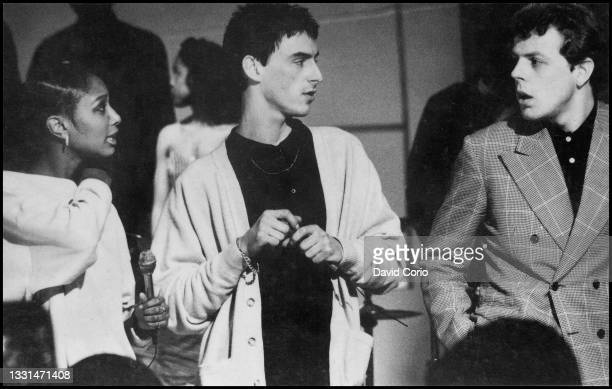 The Style Council - Dee C Lee, Paul Weller and Mick Talbot performing on Soul Train at Channel 4 TV Studios 1985.