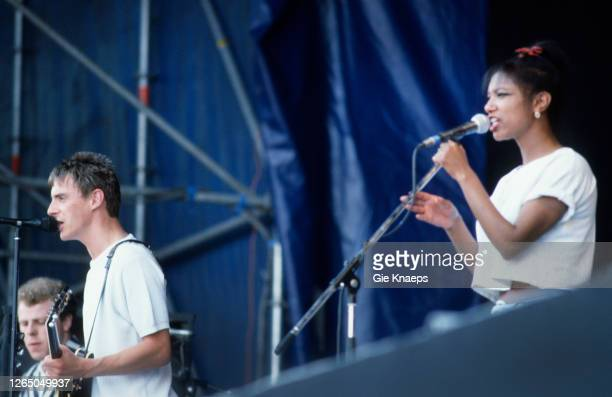 The Style Council Paul Weller Mick Talbot Dee C Lee Torhout/Werchter Festival Werchter Belgium 7 July 1985