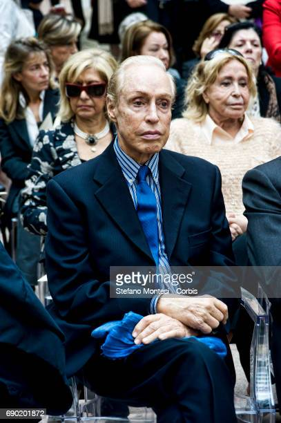 The stylist Renato Balestra during the Birthday celebration for Micol Fontana who is 100 years old the last of the three sisters Fontana of the...