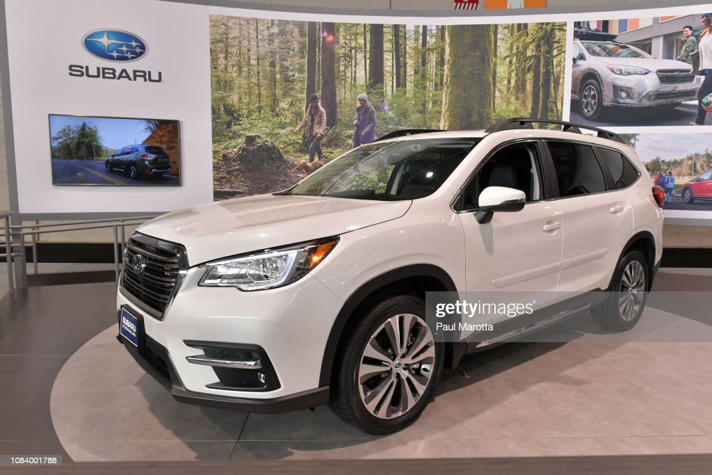 Subaru Of New England >> The Subaru 2019 Ascent Is Seen At The 2019 New England