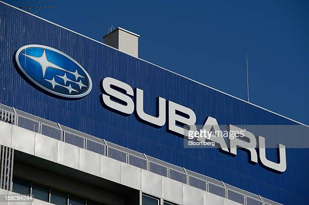 The Subaru logo is displayed on top of the Fuji Heavy Industries Ltd headquarters in Tokyo Japan on Wednesday Dec 12 2012 Fuji Heavy Industries...