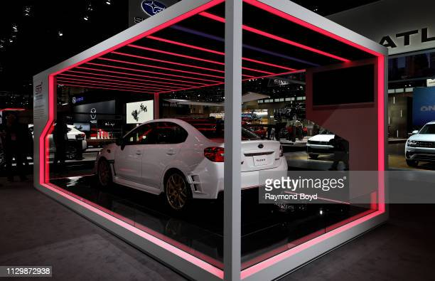 The Subaru Tecnica International Limited Edition S209 is on display at the 111th Annual Chicago Auto Show at McCormick Place in Chicago Illinois on...