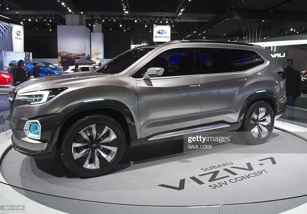 The Subaru Viziv 7 Suv Concept Is Seen During The 2017 North