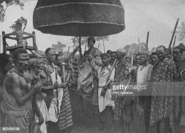 The Subdued King of Akim Carried on his Chair of State' 1902 The AngloAshanti Wars Ghana From Battles of the Nineteenth Century Vol III [Cassell and...