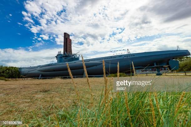 das u-Boot U995 und das Marine-Ehrenmal in Laboe, Deutschland