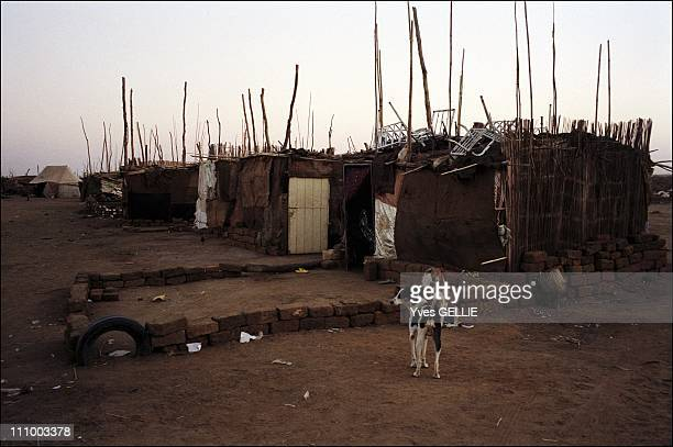 The suburbs of the largest displaced people camp in the Nile Valley in Khartoum Sudan in July 2004 Southern suburb of Khartoum Oued Al Bashir...