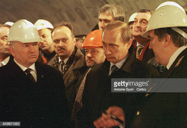 The subway building site was inaugurated by the Mayor of Moscow Yuri Luzhkov Vladimir Putin