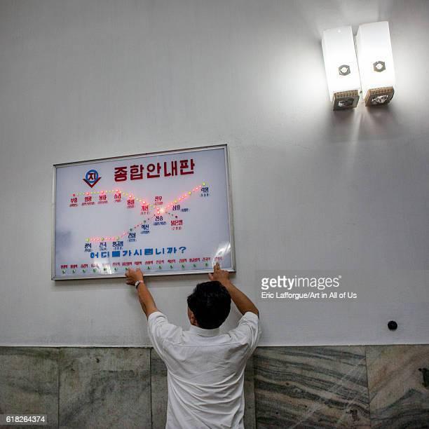 The subway pyongyang North Korea on September 8 2012 in Pyongyang North Korea