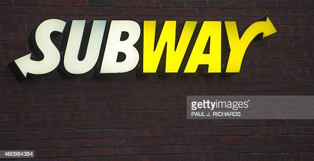 The Subway restaurant logo is seen in Chantilly Virginia on January 2 2015 AFP Photo/PAUL J RICHARDS