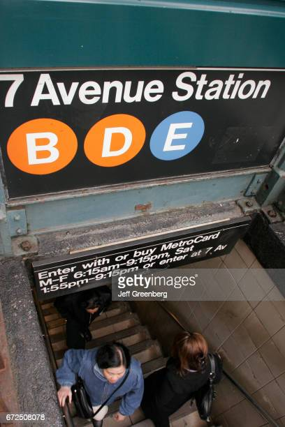 The subway station entrance sign on 50th Street