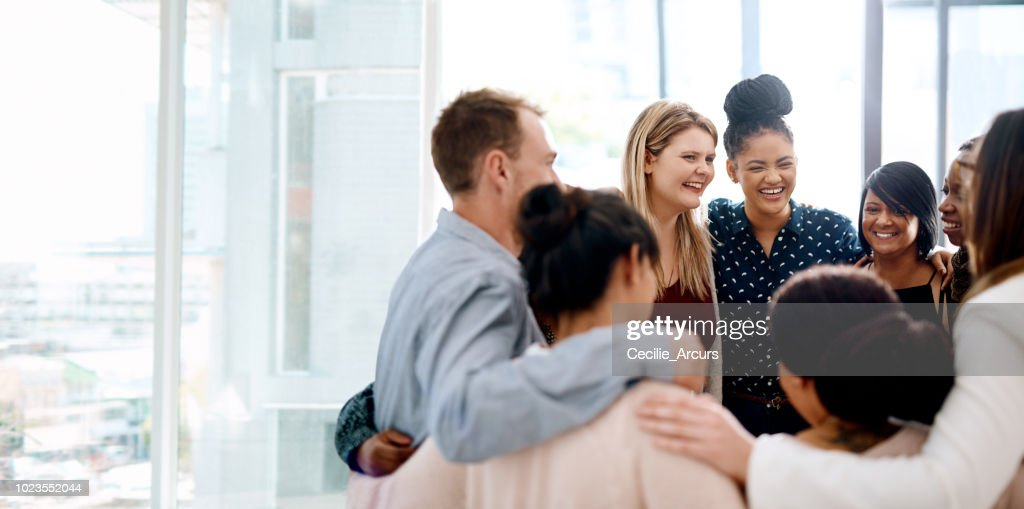 The success of a business leans on it's team : Stock Photo