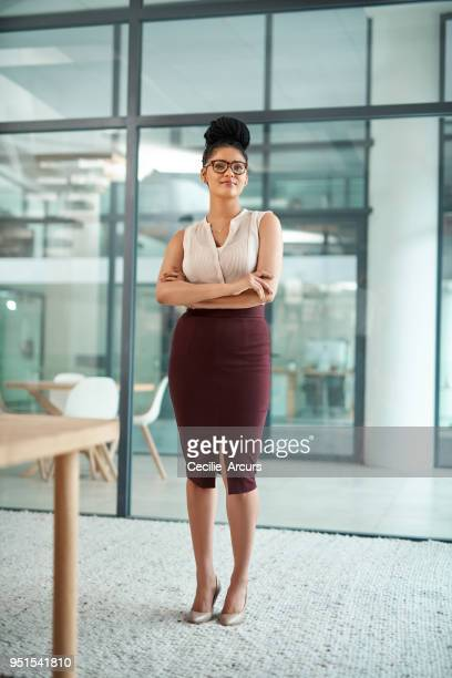 the successful aren't afraid to stand alone - black skirt stock pictures, royalty-free photos & images