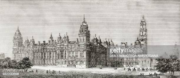 The successful design for the new Admiralty and War office building, London, United Kingdom, illustration from the magazine The Graphic, volume XXX,...