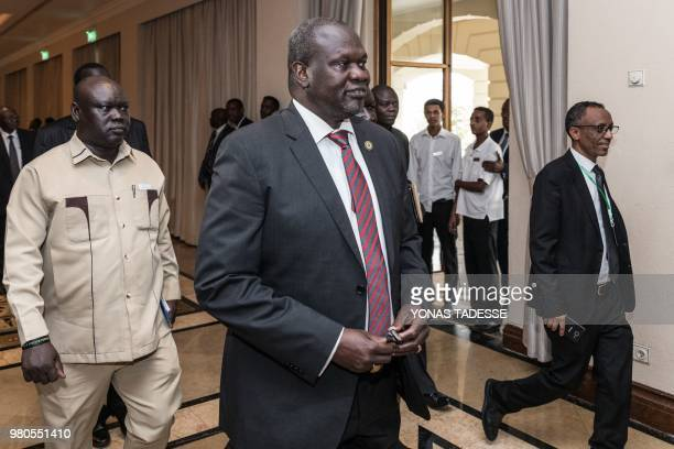 The Sudan People's Liberation MovementinOpposition rebel group leader Riek Machar attends the 32nd Extraordinary Summit of Intergovernmental...