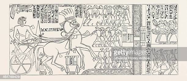 The Suez Canal Of Seti I Pharaoh Of Egypt Egypt Engraving 1879