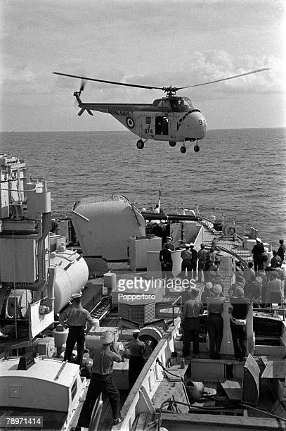 The Suez Crisis Egypt Invasion Cyprus Royal Navy helicopters are pictured during operations