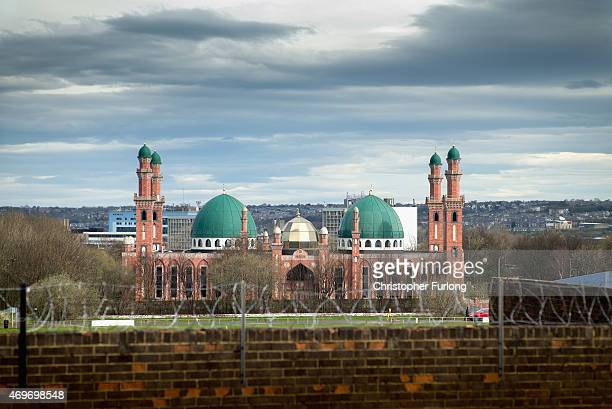 The Suffa Tul Islam Central Mosque in the mulit cultural Bradford East constituency where candidate Owais Rajput and his team are canvassing for...