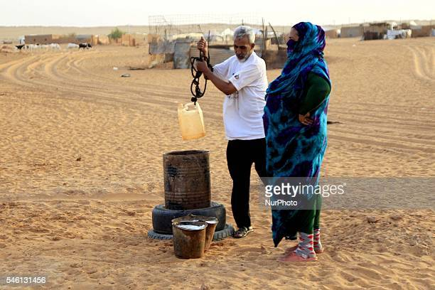 The suffering of the Saharawi people in the Dakhla refugee camp 170 kms southeast of Algeria town of Tindouf in the disputed territory of Sahara...