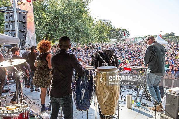 The Suffers performs on the BMI stage at Zilker Park during ACL Music Festival on Sunday October 4 2015 in Austin Texas