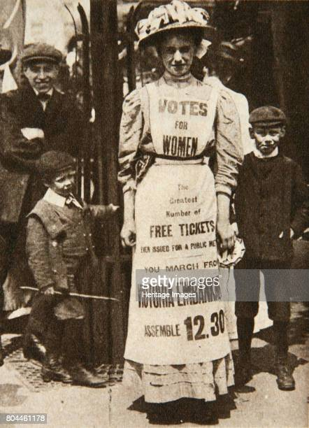 The suffragette housemaid 1908 A suffragette wearing a pinafore advertising a protest on London's Victoria Embankment The campaign to secure the vote...