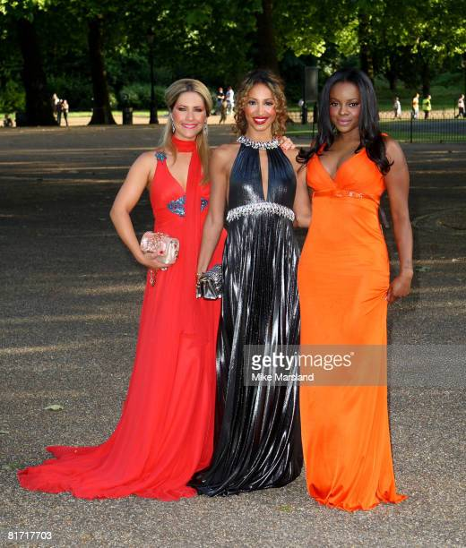 The Sugababes attend dinner in honour of Nelson Mandela in Hyde Park London on June 25 2008