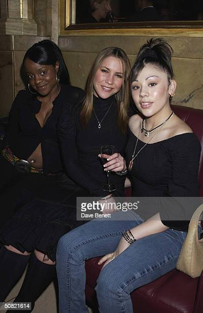 The Sugababes attend the MAC Cosmetics Charity Party to support Aids in London in honour of Mary J Blige at The Criterion Restaurant on April 23 2002...