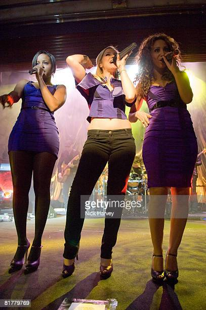 The Sugababes attends the Sony Ericsson K770i Phone Launch Party on October 24 2007 in London England