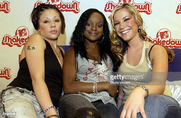 The Sugababes pose for photographers at the MTV Shakedown September 13 2003 in Lisbon Portugal Shakedown is a European search for the best male or...