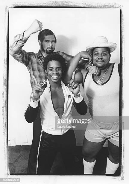 The Sugarhill Gang Wonder Mike Master Gee and Big Bank Hank at Sugarhill Record office