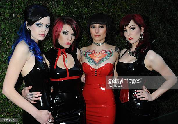 The Suicide Girls arrive at SPIKE TV's Scream 2008 Awards held at the Greek Theatre on October 18 2008 in Los Angeles California