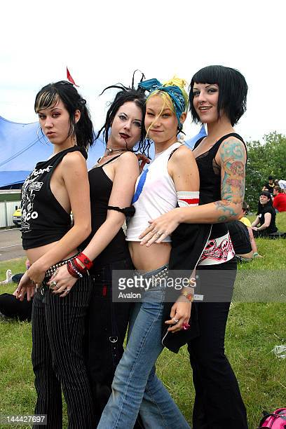 The Suicide Girls photographed at the Download Music Festival in June 2004