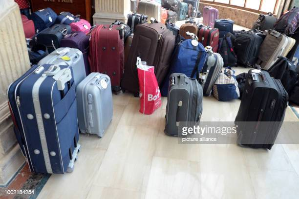 The suitcases of arriving guests stand in the entrance of the Sunny Days El Palacio Hotel in in Hurghada Egypt 15 July 2017 Two German women were...