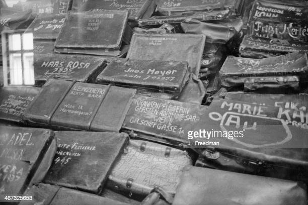 The suitcases of Jews murdered at the concentration camp of AuschwitzBirkenau in Germanoccupied Poland circa 1993