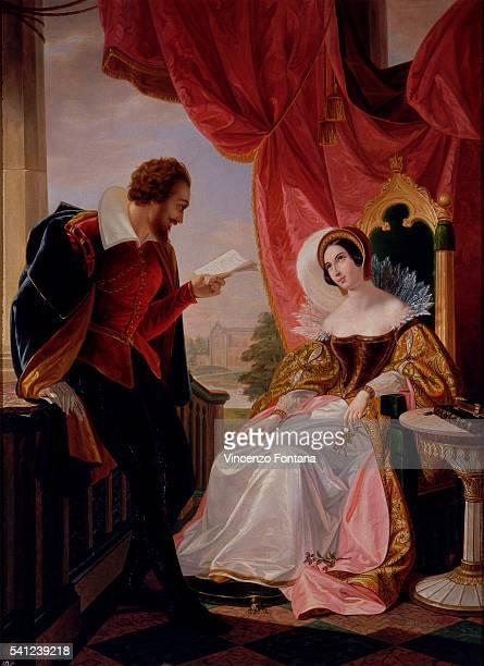 The Suitor Reads a Poem to Eleonora d'Este by Luigi Mussini
