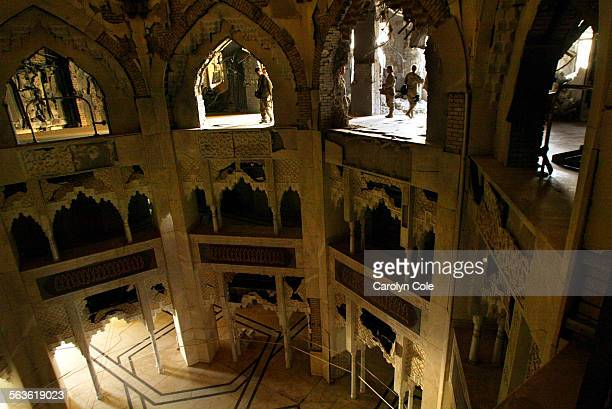 The Sujud Palace was built for Saddam Hussein's first wife Stalactite molding was used in the main entrance hall