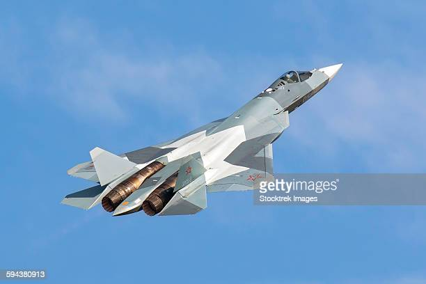 The Sukhoi T-50 future Russian Air Force 5th generation fighter plane.
