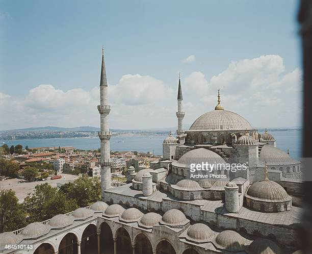The Sultan Ahmed Mosque aka the Blue Mosque in Istanbul Turkey circa 1960