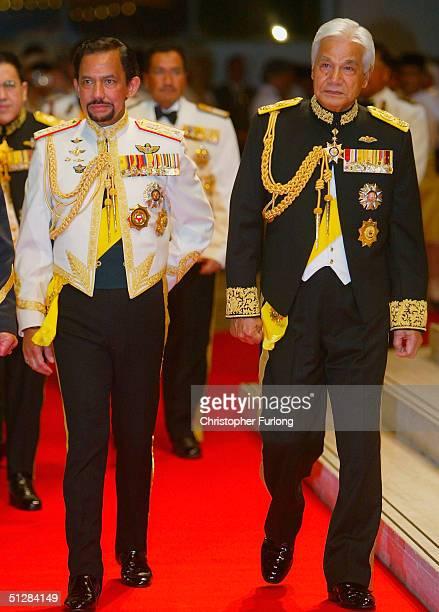 The Sultan of Brunei and The Sultan of Perak attend the Majlis Istiadat Persantapan Pengantin Diraja following the wedding of His Royal Highness...
