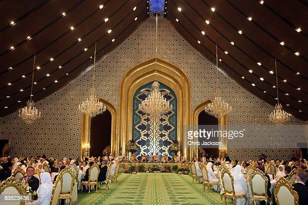 The Sultan of Brunei Haji Hassanal Bolkiah Mu'izzaddin Waddaulah HRH Camilla Duchess of Cornwall and Prince Charles Prince of Wales and the Sultan of...