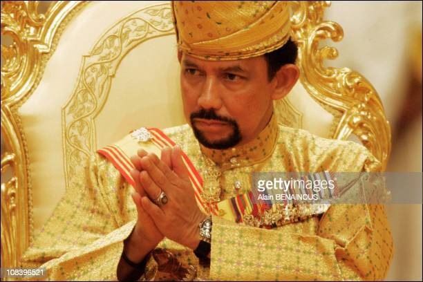 The Sultan of Brunei in Bandar Seri Bagawan Brunei Darussalam on September 08 2004