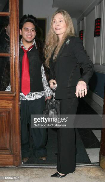 The Sultan of Brunei's son and Faye Dunaway during Funky Buddha Party for Tsunami Earthquake Appeal at Funky Buddha in London Great Britain
