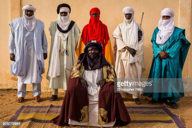 The Sultan of the Air region in northern Niger, which includes the city of Agadez, surrounded by his entourage. The Sultanate of Agadez, also known...