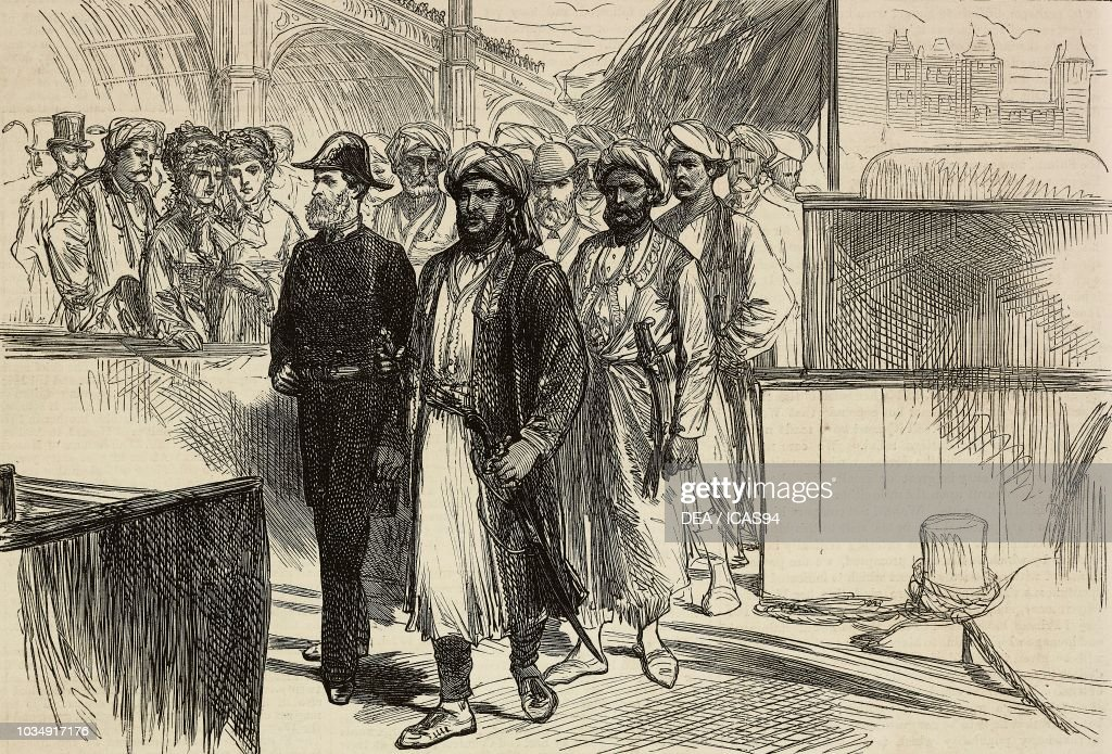 Sultan of Zanzibar landing at Westminster Palace : Photo d'actualité