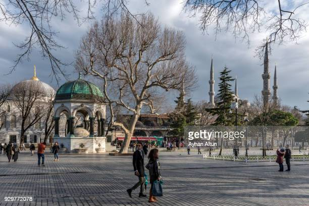 The Sultanahmet Square in Fatih District of Istanbul, Turkey