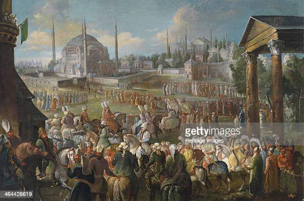 The Sultan's Procession in Istanbul c 1736 From a private collection