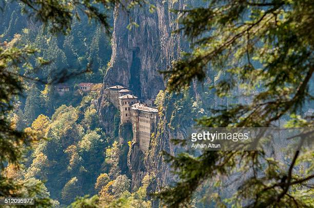 the sumela monastery in trabzon,turkey - trabzon stock photos and pictures